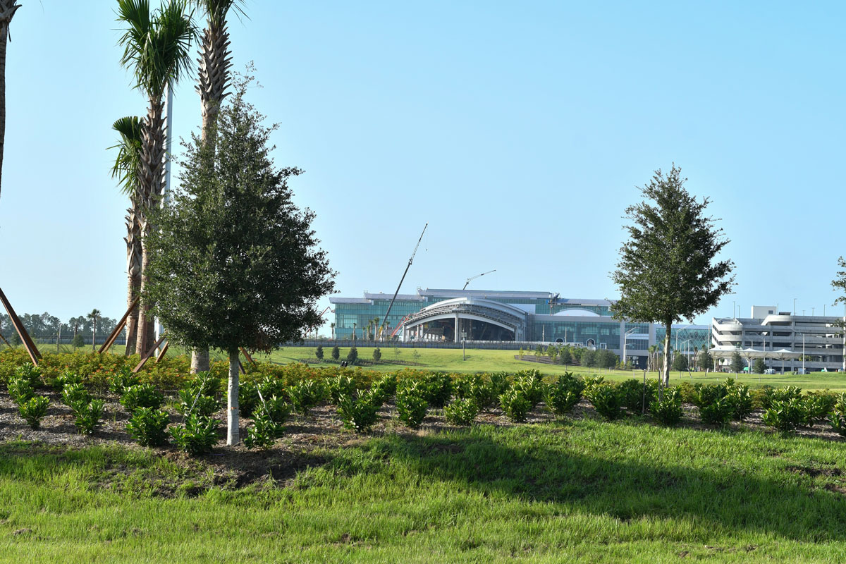 A scenic view of the Orlando International Airport South ARM Complex.