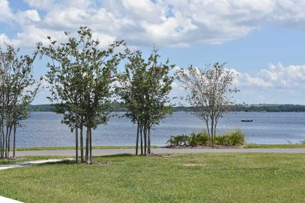 Victory Pointe Park adjoins with Lake Minneola.